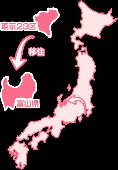 東京23区から富山県に移住
